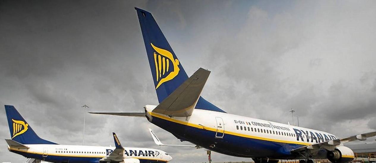 Decolagem. Avião da Ryanair, de baixo custo, que já estaria interessada no mercado brasileiro Foto: Simon Dawson/Bloomberg/10-9-2013