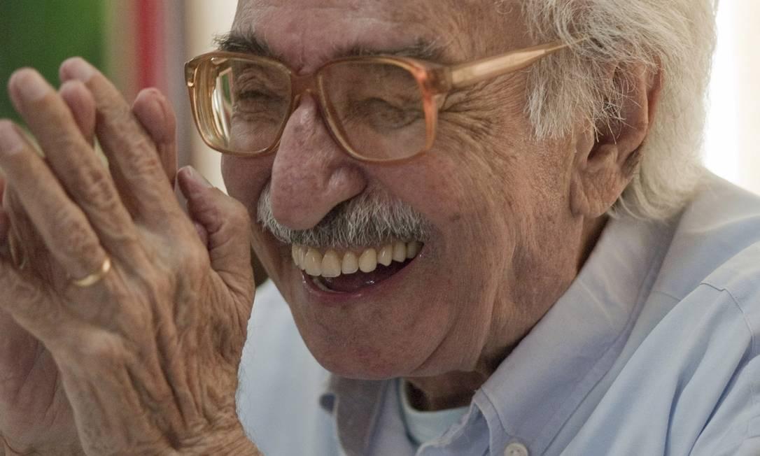 O poeta Manoel de Barros aos 93 anos Foto: Divulgação