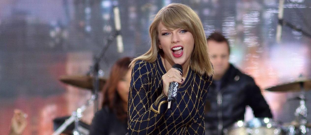 """Taylor Swift já vendeu mais de um milhão de cópias de seu novo cd """"1989"""" Foto: Greg Allen / Greg Allen/Invision/AP"""