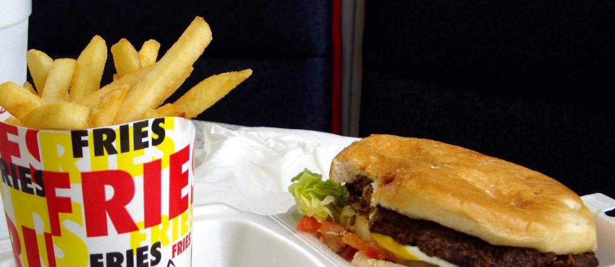 Fast-food é rico em gorduras totais, ácidos gordos trans e sódio Foto: Freeimages