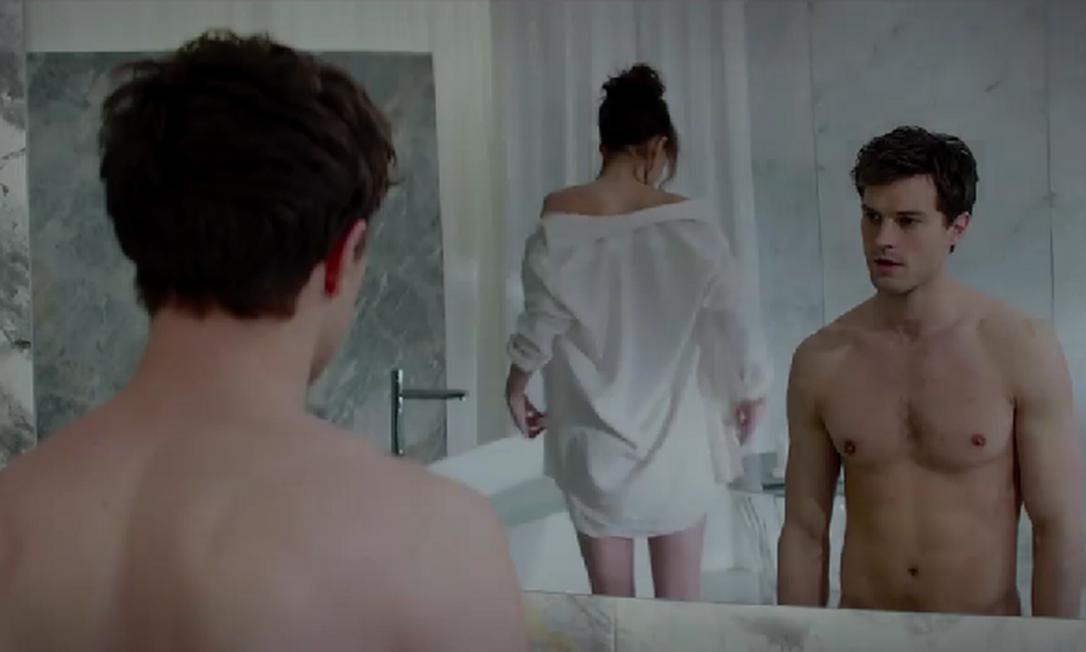 Cena do trailer de 'Cinquenta tons de cinza' Foto: Reprodução