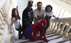 Cosplayers de Batman, Homem Aranha e Mary Jane se juntam a pesquisadores em evento sobre quadrinhos Foto: Angelo Antônio Duarte / Angelo Antônio duarte