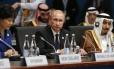 Vladimir Putin durante o início da sessão plenária na cúpula do G20, em Brisbane