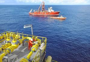 Plataforma da Petrobras. Apesar de escândalos, produção de petróleo cresceu Foto: Terceiro / Divulgação