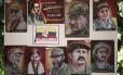 Quadros de fundadores das Farc, no local das negociações em Havana: diálogos em risco