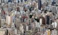 Vista aérea de São Paulo, que lidera lista das cidades com mais PMEs