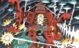Capa do disco 'Não pare pra pensar', do Pato Fu