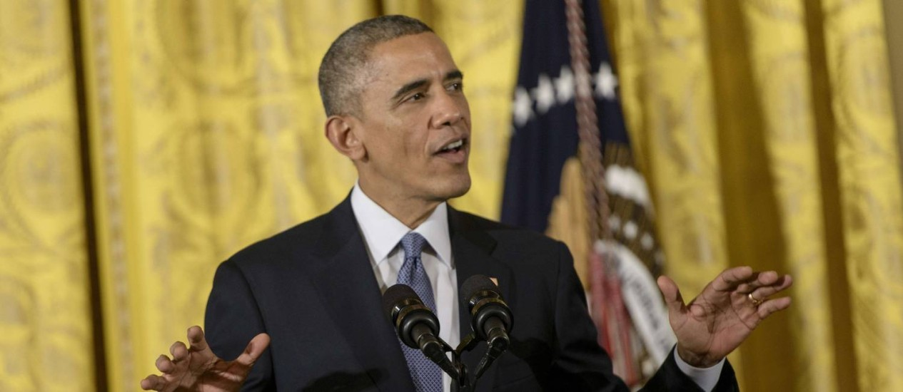 Barack Obama. Decisão do presidente americano pode arruinar tentativas de ações bipartidárias até o fim de seu mandato Foto: BRENDAN SMIALOWSKI / AFP
