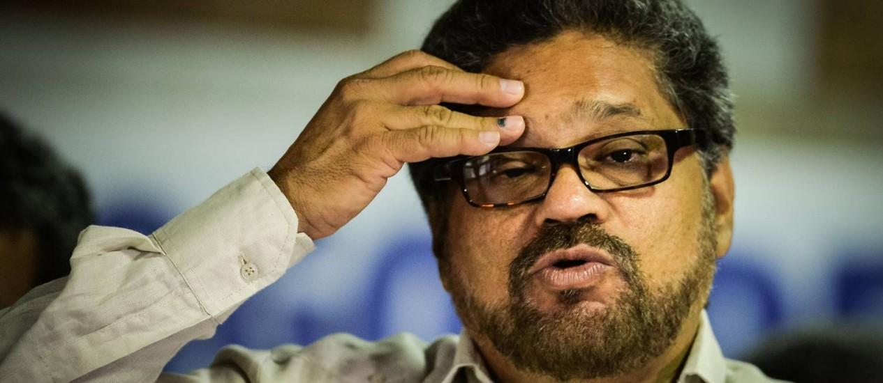 Iván Márquez. Mediador das Farc em Havana anunciou acordo para libertação de general sequestrado Foto: ADALBERTO ROQUE / AFP