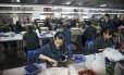 Fábrica da Faber-Castell em Guangzhou: PMI da indústria chinesa tem pior resultado em seis meses