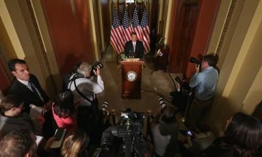 """John Boehner, presidente da Câmara: """"Obama está causando danos à própria Presidência"""" Foto: CHIP SOMODEVILLA / AFP"""