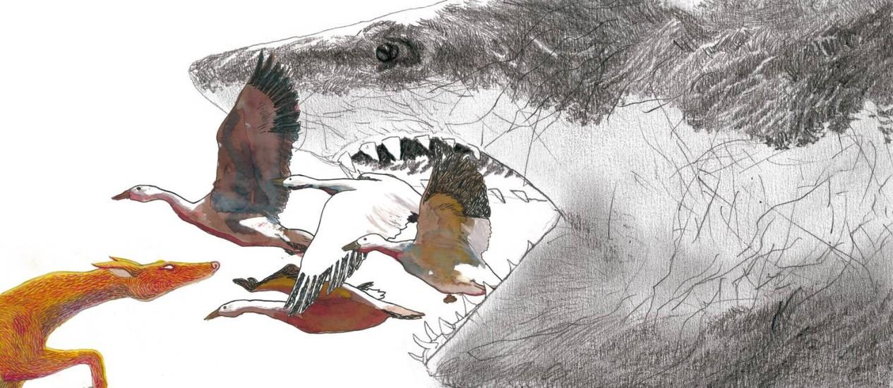 """Ilustração de Rafael Coutinho para o livro """"As surpreendentes aventuras do Barão de Munchausen""""/Divulgação/Editora Cosac Naify Foto: Divulgação/Editora Cosac Naify"""
