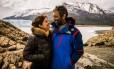 Débora Bloch e Domingos Montagner posam na Patagônia Argentina