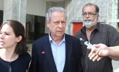 Ex-ministro da Casa Civil José Dirceu Foto: André Coelho / O Globo