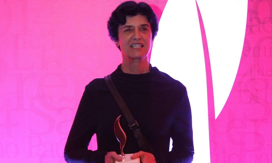 Ana Luisa Escorel, primeira mulher a vencer o Prêmio São Paulo de Literatura Foto: Fernando Donasci / Agência O GLOBO