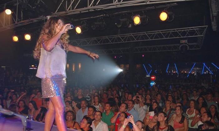 Show de Elba Ramalho no Bar do Meio Foto: Divulgação / Agência O Globo