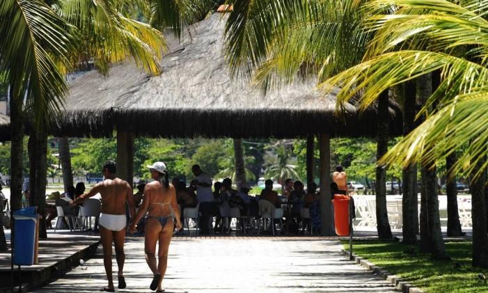 Clube Naval na praia de Charitas Foto: Guilherme Leporace / Agência O Globo