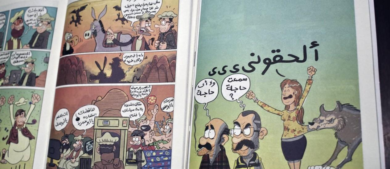 Página da revista Shakmagia Foto: Nariman El-Mofty / AP