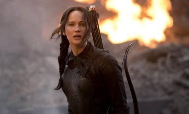 Jennifer Lawrence como Katniss Everdeen em 'A esperança' Foto: Murray Close / Lionsgate