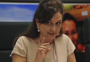A senadora Kátia Abreu, presidente da Confederação da Agricultura e Pecuária do Brasil (CNA) Foto: Valter Campanato / ABr