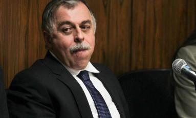 Paulo Roberto Costa na CPI no Congresso sobre o esquema de corrupção na estatal Foto: André Coelho / Agência O Globo