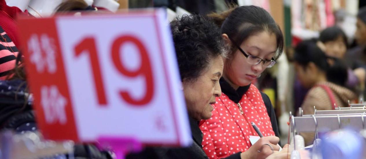 Pressões deflacionárias e vendas do comércio fracas na China Foto: TOMOHIRO OHSUMI / BLOOMBERG / 9-11-2014