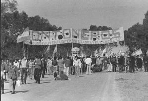 Montoneros representavam uma das alas mais radicais da esquerda peronista na Argentina Foto: La Nación / GDA (20-6-1973)