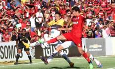 Flamengo e Criciúma empataram em 1 a 1 no Maranhão Foto: Fernando Ribeiro/Futura Press / Folhapress