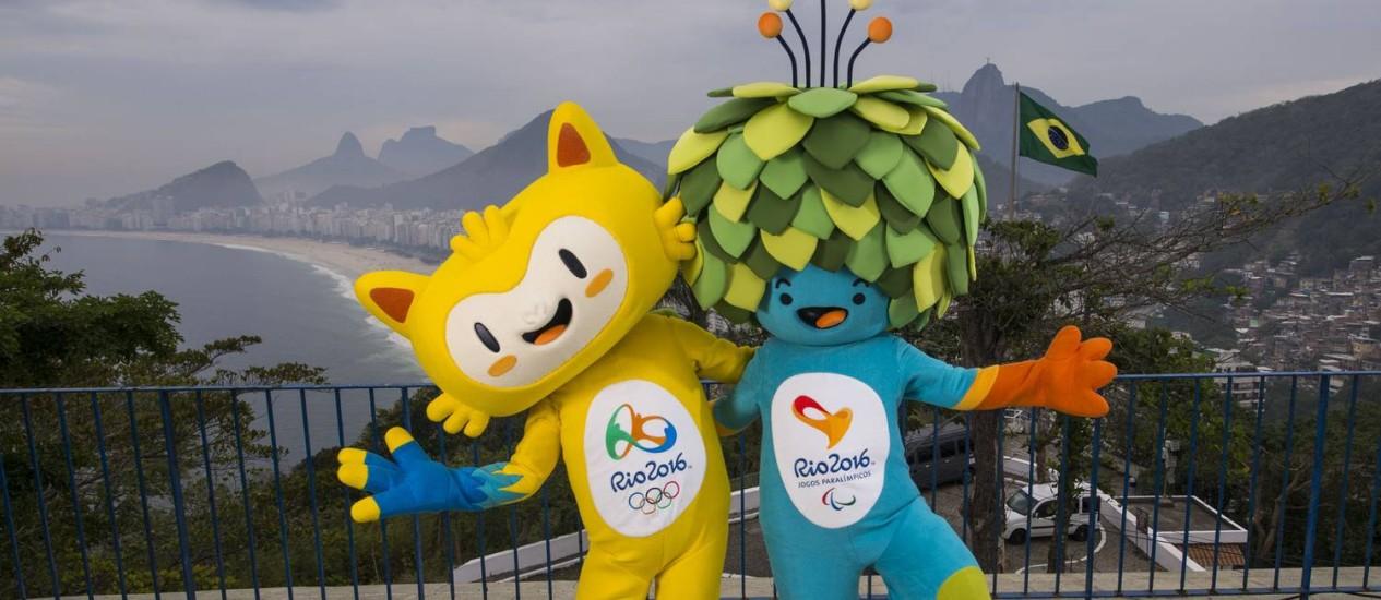Os mascotes das Olimpíadas e Paralimpíadas do Rio 2016 Foto: Divulgação