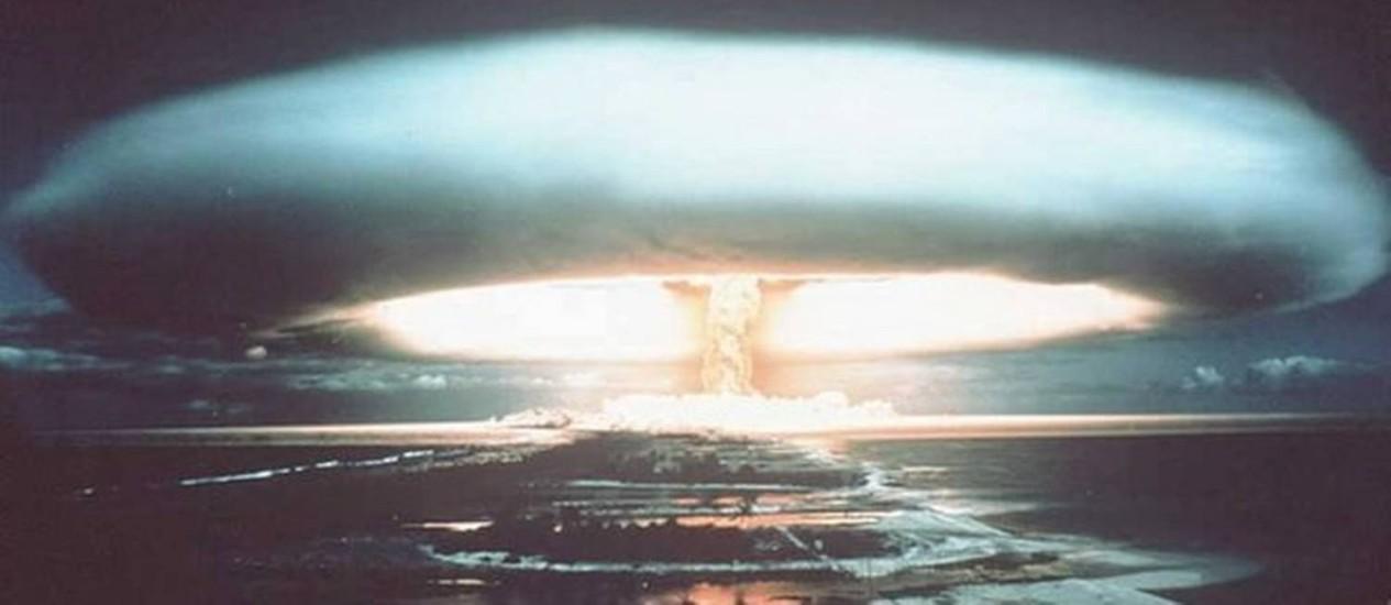 A França realizou testes no Pacífico Sul entre 1966 e 1996 Foto: AFP