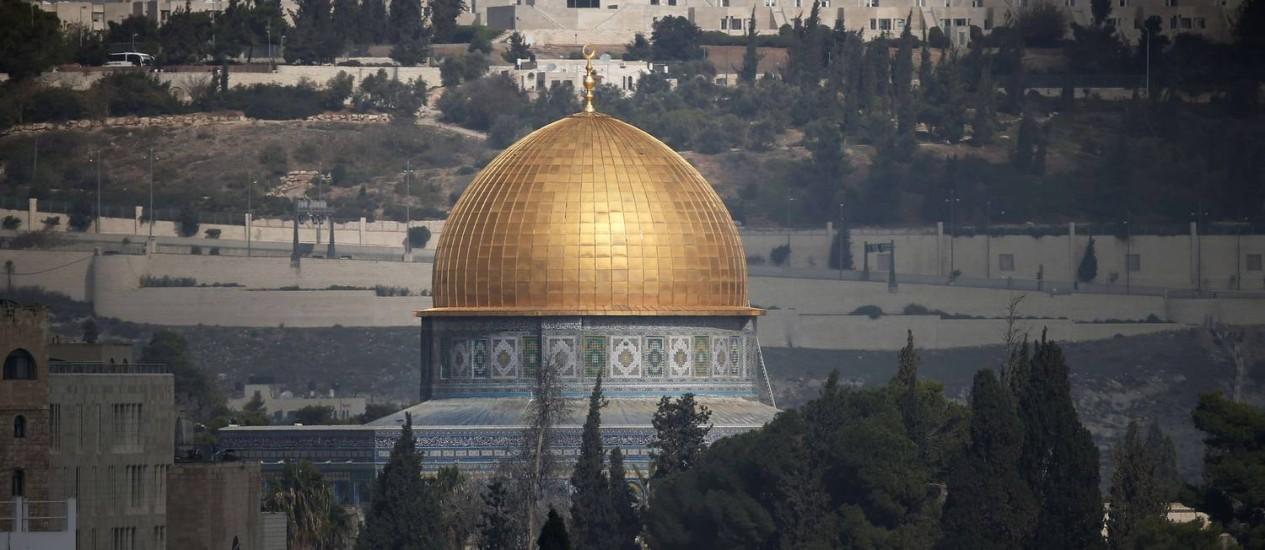 Esplanada das Mesquistas. Templo em Jerusalém tem sido centro de confrontos entre palestinos e israelenses nas últimas semanas Foto: THOMAS COEX / AFP