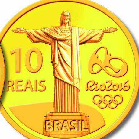 O Banco Central lança nesta sexta-feira moedas comemorativas em homenagem ao Jogos Olímpicos e Paralímpicos Rio 2016 Com tiragem de cinco mil, o valor de face dessa moeda de ouro é de R$ 10, mas ela custará R$ 1.180 Foto: Divulgação