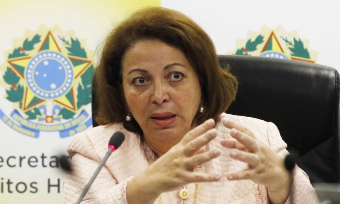 IDELI SALVATTI - Petista de Santa Catarina, foi mantida na Secretaria de Direitos Humanos Foto: Jorge William / Agência O Globo