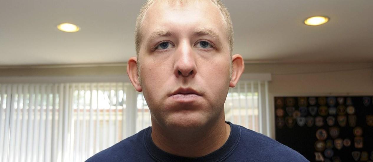 Darren Wilson. Policial que matou Michael Brown diz ter agido dentro da lei no incidente em Ferguson Foto: HANDOUT / REUTERS