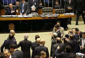 De acordo com o levantamento dos técnicos, foi sentida a ausência da base aliada do governo na sessão para votação da meta fiscal Foto: Ailton de Freitas / Agência O Globo