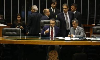 Segundo Henrique Alves, ideia do reajuste salarial é garantir pelo menos a correção inflacionária dos subsídios parlamentares Foto: Ailton de Freitas / Agência O Globo