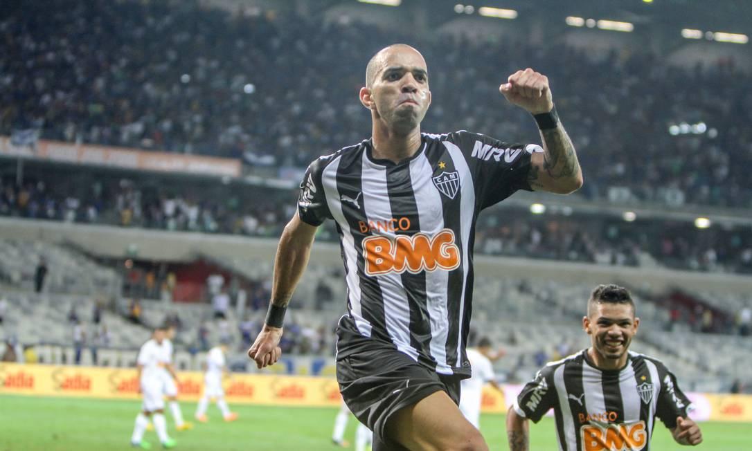 Diego Tardelli comemora o gol do título do Galo Foto: BRUNO CANTINI / BRUNO CANTINI