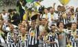 Os jogadores do Atlético-MG na comemoração do título da Copa do Brasil após a vitória sobre o Cruzeiro