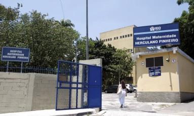 Hospital Maternidade Herculano Pinheiro, que responde processo por despejo de esgoto Foto: Gustavo Stephan / Agência O Globo