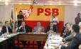 Reunião da Executiva Nacional do PSB define posição do partido no governo Dilma