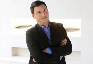 O economista francês Thomas Piketty fala sobre desigualdade, em entrevista em São Paulo Foto: Michel Filho / Agência O Globo