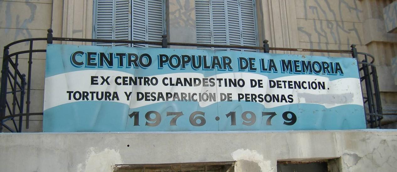 Centro Popular da Memoria, ex-centro clandestino de detenção e tortura, em Rosario, na Argentina. País foi criticado pela CIDH pelo difícil acesso a documentos do período militar Foto: Pablo D. Flores / Creative Commons