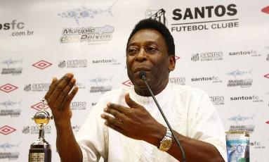 Pelé em foto de arquivo Foto: Divulgação / Santos