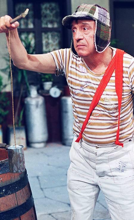 Bolaños como Chaves, seu mais famoso personagem. No Brasil, a atração estreou em agosto de 1984 no programa do palhaço Bozo. Foto: divulgação