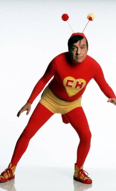 O inesquecível Chapolin Colorado, dono de bordões como 'Sigam-me os bons' e 'Não contavam com a minha astúcia' Foto: Agência O Globo