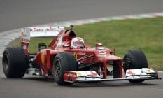 Vettel pilota pela primeira vez um carro da Ferrari, sua nova escuderia a partir de 2015 Foto: Marco Vasini / AP