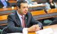 O Presidente do Conselho de Ética Deputado Federal Ricardo Izar Filho (à dir.) já anuncia sua candidatura à reeleição