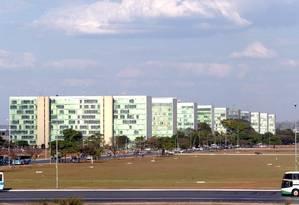Esplanada dos Ministérios, em Brasília Foto: Ailton de Freitas / Arquivo O Globo - 10.09.2003