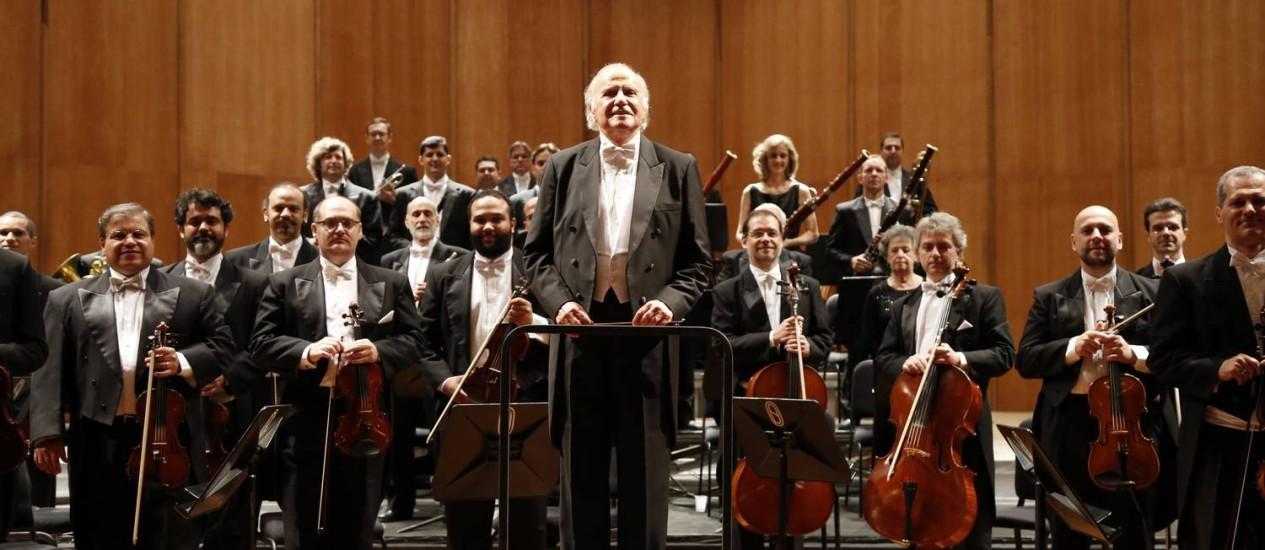 Orquestra Petrobras Sinfônica com o maestro Isaac Karabtchevsky Foto: Fábio Rossi