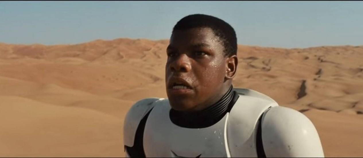 John Boyega, o novo Stormtrooper Foto: Reprodução